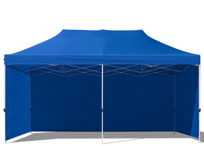 Digital Print 3m X 6m Pop Up Gazebo With Sides , Hexagon Waterproof